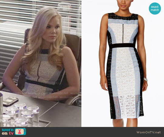 Jax Colorblocked Lace Sheath Dress worn by Dani (Victoria Staley) on Being Mary Jane