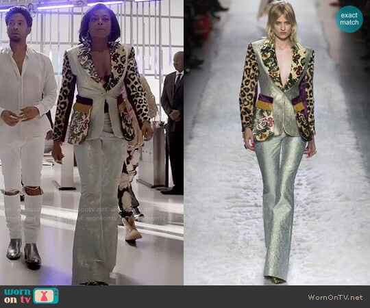 Jeremy Scott Fall 2017 Suit worn by Taraji P. Henson on Empire