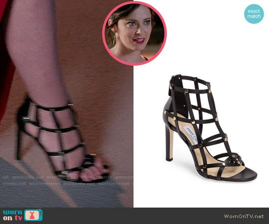 Jimmy Choo Tina Sandals worn by Rachel Bloom on Crazy Ex-Girlfriend