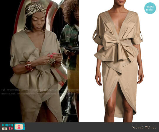 Johanna Ortiz Patagonia Poplin Trench Dress worn by Cookie Lyon (Taraji P. Henson) on Empire