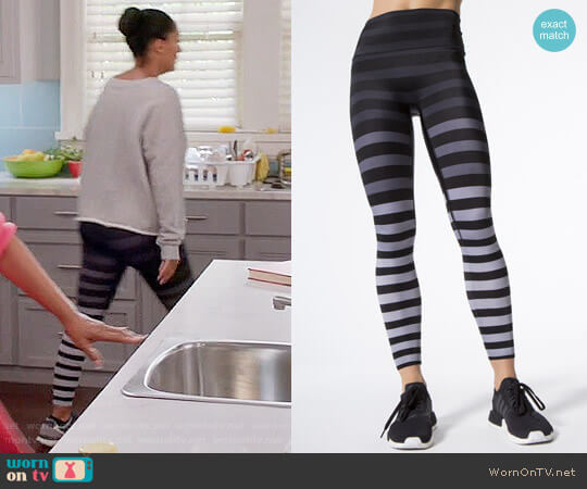 K-Deer Jody Stripe Leggings worn by Tracee Ellis Ross on Blackish