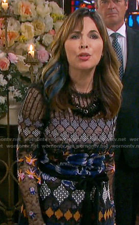 Kate's mixed lace dress on Days of our Lives