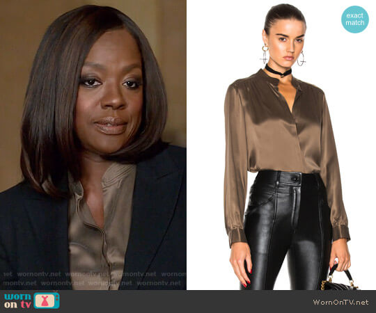 L'Agence Bianca Blouse worn by Viola Davis on HTGAWM