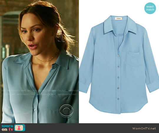L'Agence Ryan Blouse worn by Paige Dineen (Katharine McPhee) on Scorpion