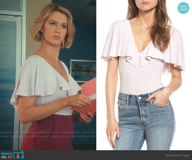 Leith Cape Overlay Bodysuit worn by Petra Solano (Yael Grobglas) on Jane the Virgin