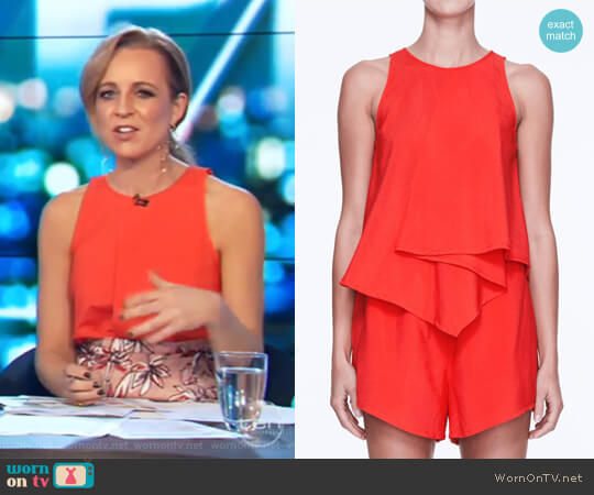 Nautilus Top by Life with Bird worn by Carrie Bickmore on The Project