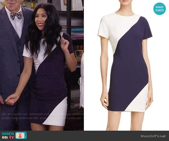 Color Block Manhattan Dress by Likely worn by Liza Lapira on 9JKL