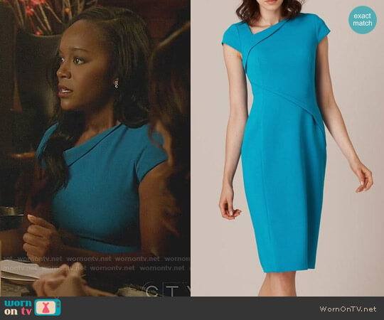 LK Bennett Sissi Dress worn by Michaela Pratt (Aja Naomi King) on HTGAWM