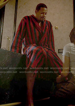 Lucious's red striped robe on Empire