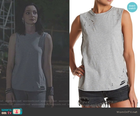 Ripped Tank by Lush worn by Lorna Dane (Emma Dumont) on The Gifted