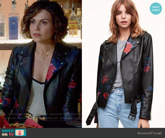 Mackage Painted Florica Jacket worn by Regina Mills (Lana Parrilla) on OUAT