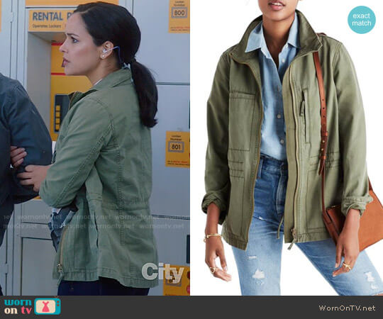 Madewell Fleet Jacket worn by Melissa Fumero on Brooklyn Nine-Nine