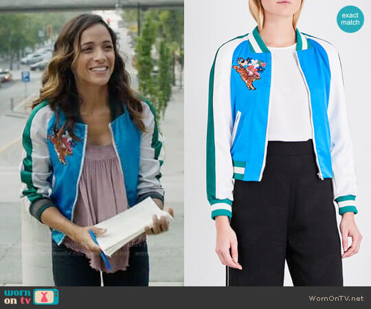 Maje Bianca Jacket worn by Dania Ramirez on OUAT