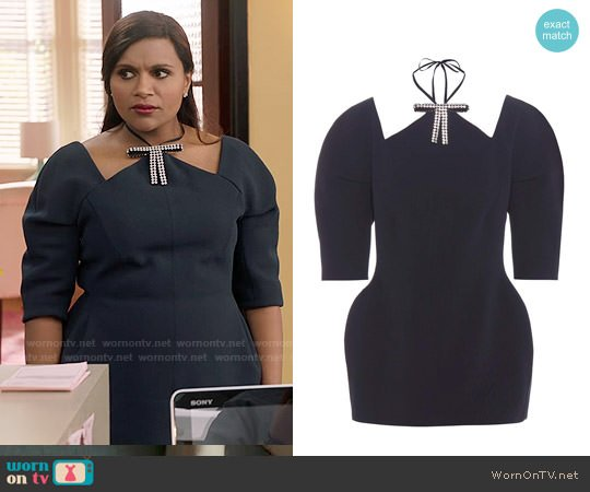 Marni Crepe Top worn by Mindy Kaling on The Mindy Project