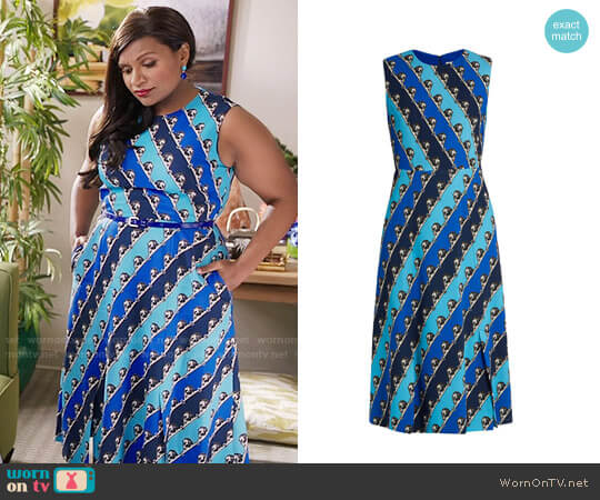Mary Katrantzou Osmond Dress worn by Mindy Lahiri (Mindy Kaling) on The Mindy Project