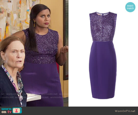 Michael Kors Sequinned Detail Dress worn by Mindy Lahiri (Mindy Kaling) on The Mindy Project