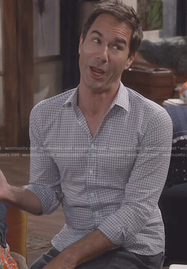 Will's white micro check shirt on Will and Grace