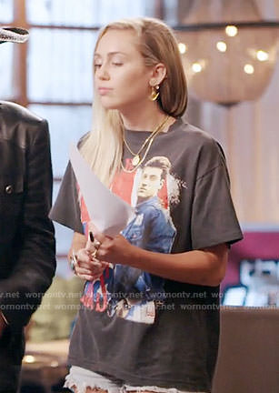Miley Cyrus's Billy Ray T-shirt on The Voice