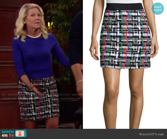 Milly Couture Tweed Skirt worn by Pamela Douglas (Alley Mills) on The Bold & the Beautiful
