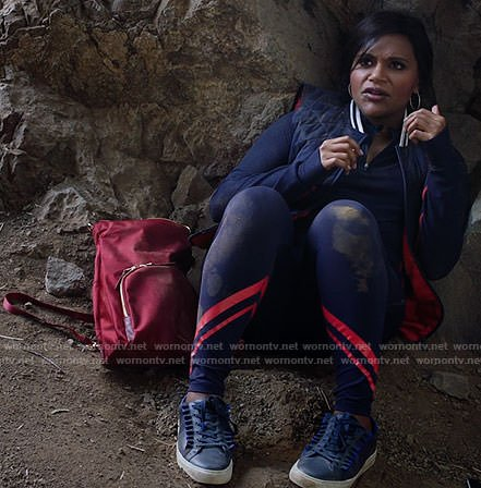 Mindy's hiking outfit on The Mindy Project