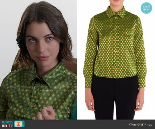 Miu Miu Printed Button Front Shirt worn by Adelaide Kane on OUAT