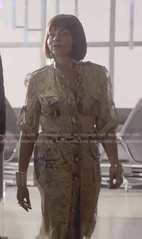 Cookie's snake skin mixed print shirt dress on Empire