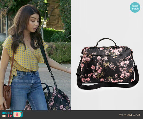 Mossimo Supply Co Floral Nylon Weekender Handbag worn by Sarah Hyland on Modern Family