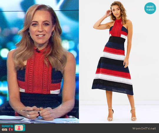 The Patriot Midi Dress by Mossman worn by Carrie Bickmore  on The Project