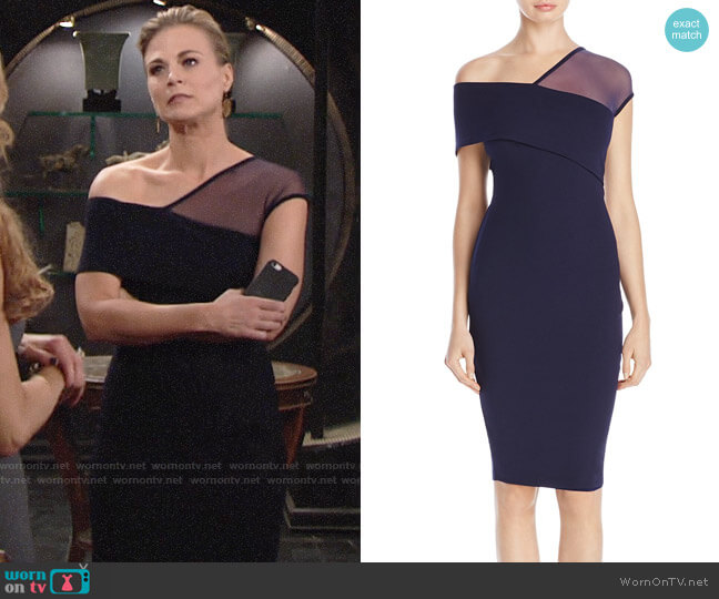 Nookie Asymmetric Neckline Dress worn by Phyllis Newman (Gina Tognoni) on The Young & the Restless