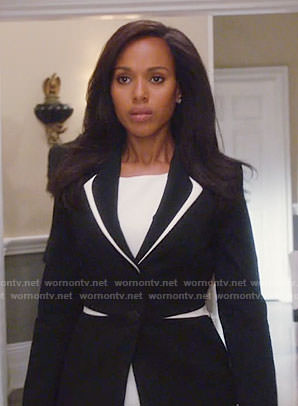 Olivia's black and white blazer on Scandal