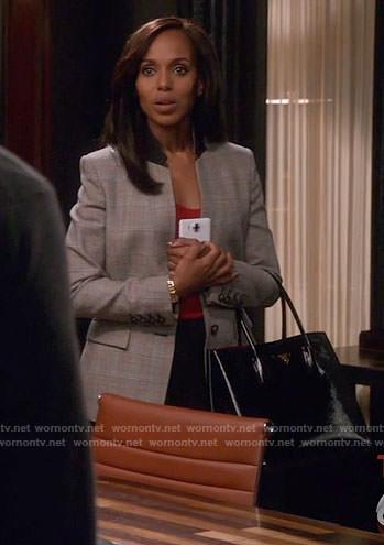 Olivia's plaid blazer on Scandal