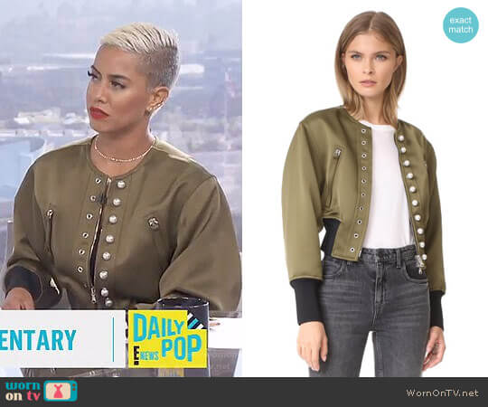 Pearly Bomber by 3.1 Phillip Lim worn by Sibley Scoles on E! News