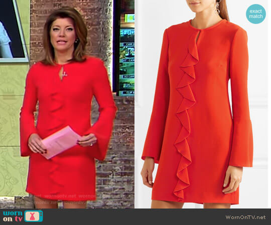 'Monner' Mini Dress by Rachel Zoe worn by Norah O'Donnell on CBS This Morning