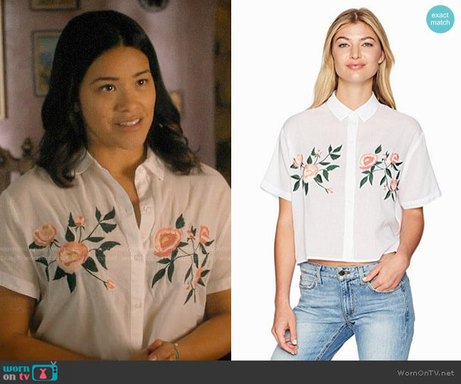 Rails Gretta Shirt worn by Gina Rodriguez on Jane the Virgin