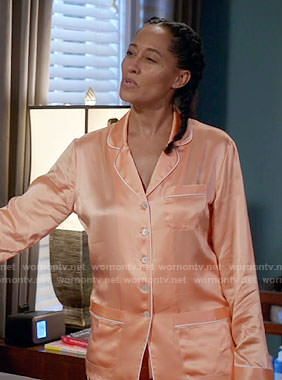 Rainbow's orange pajamas on Black-ish