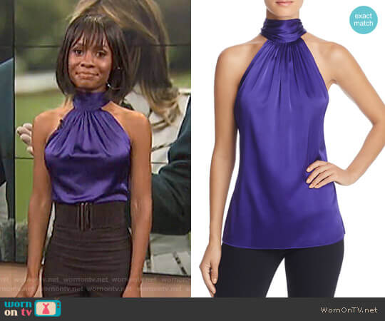 'Paige' Top by Ramy Brook worn by Zuri Hall  on E! News