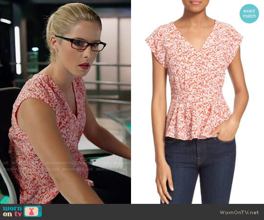 Rebecca Taylor Provence Top worn by Emily Bett Rickards on Arrow