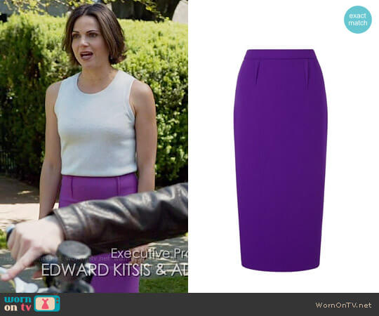 Roland Mouret Arreton Skirt worn by Lana Parrilla on OUAT