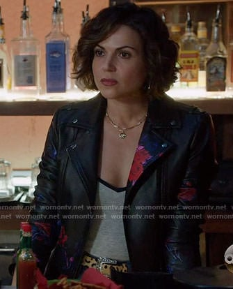 Roni's floral leather jacket on Once Upon a Time