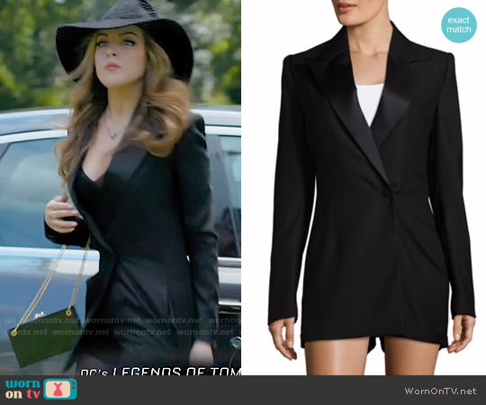 Saint Laurent Peak Lapel Romper worn by Elizabeth Gillies on Dynasty