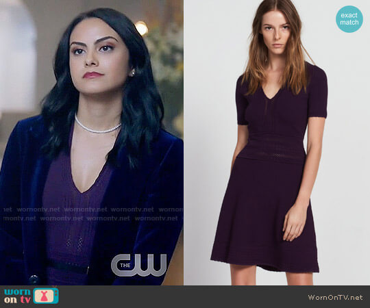 Sandro Betsy Dress worn by Camila Mendes on Riverdale