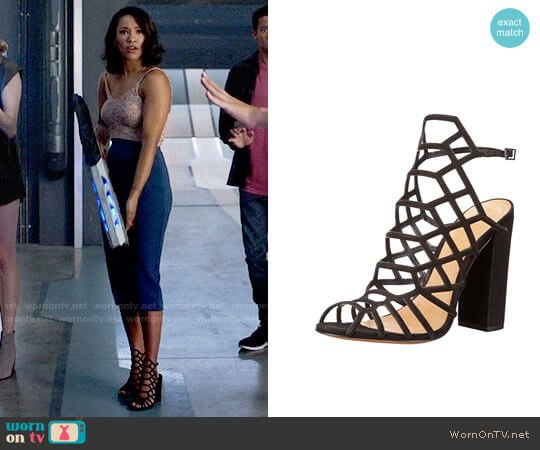 Schutz Jaden Sandals worn by Iris West (Candice Patton) on The Flash