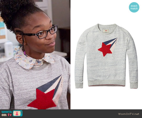 Scotch & Soda Boxy Sweat Shirt worn by Marsai Martin on Blackish