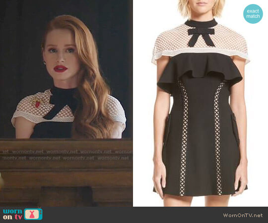 Self Portrait Bow Detail Mini Dress worn by Madelaine Petsch on Riverdale
