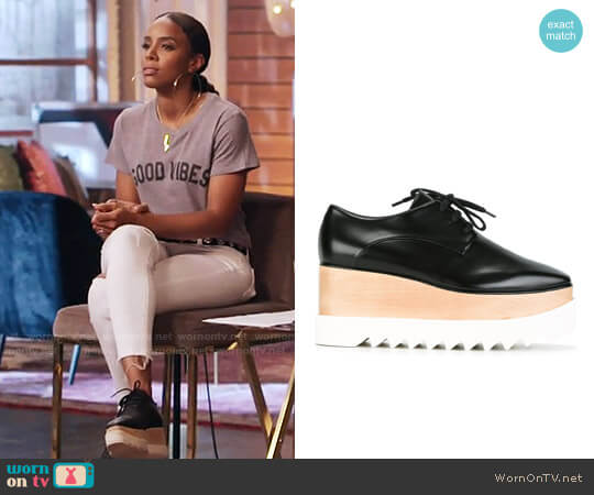 Stella McCartney Elyse Platform Shoes worn by Kelly Rowland on The Voice