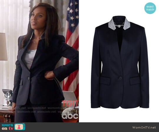Stella McCartney Fleur Jacket worn by Kerry Washington on Scandal
