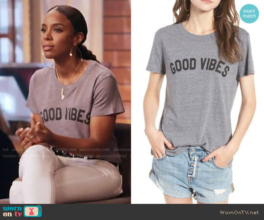 Sub_Urban Riot 'Good Vibes' Graphic Tee worn by Kelly Rowland on The Voice