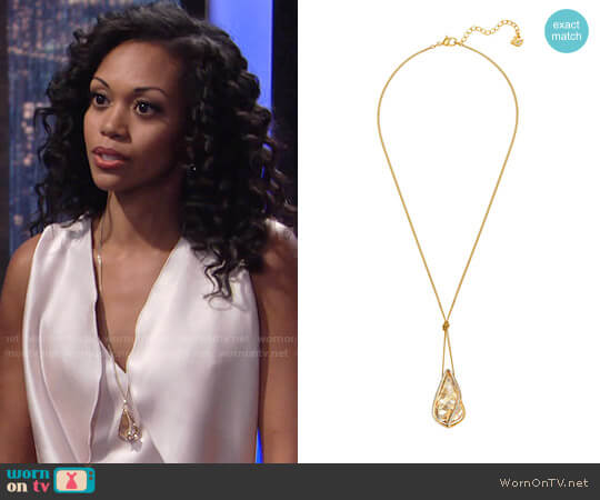 Swarovski Medium Energic Pendant worn by Mishael Morgan on The Young & the Restless