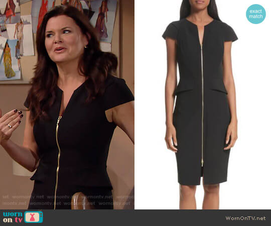 Ted Baker Architectural Pencil Dress worn by Heather Tom on The Bold & the Beautiful