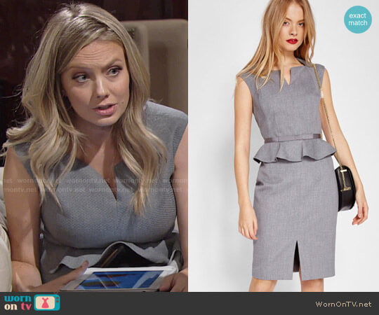 Ted Baker Nadaed Dress worn by Melissa Ordway on The Young & the Restless